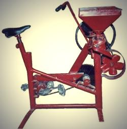 Surendranath's Invention  - The Pedal Operated Rice Mill.