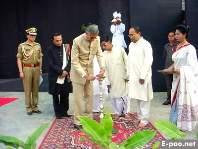 Shri Ved Marwah, Governor of Manipur Inaugurating  Festival of Dance & Music