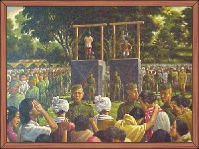Yuvaraj Tikendrajit and General Thangal on the Gallows : RKCS Art Gallery