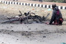 Bomb Blast in front of Manipur Sangai Tourism Festival Main Gate on Nov 30 2011 -Part 2 :: Gallery
