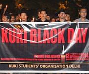 Kukis in Delhi observe 'Kuki Black Day' at  New Delhi :: Gallery