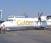 'Golden Myanmar Airlines' airplane arrive at Imphal International Airport :: Gallery