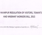 Manipur Regulation of Visitors, Tenants and Migrant Workers (MRVT&MW) Bill 2015 :: Gallery