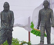 Unveiling (Rungsung Suisa and Chingsubam Akaba) twin statues of love, peace & fraternity :: Gallery