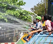 Water festival of the Myanmarese celebrated at Tamu #1 :: Gallery
