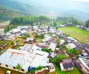 An Aerial view of Purul Village in Senapati District :: Gallery