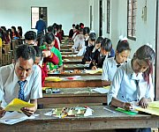 Students appearing for Class X Exam (High School Leaving Certificate) :: Gallery