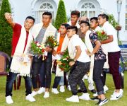 Manipur's Footballer at  U-17 FIFA World Cup honored by Chief Minister :: Gallery