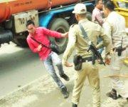 DESAM Protest to remove MU VC Prof Adya Prasad Pandey at BJP Head Office on July 16 :: Gallery