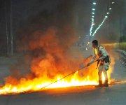 48 hours General Strike demanding removal of VC of MU Prof AP Pandey on July 18  #1 :: Gallery