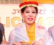 World boxing champion MC Mary Kom honoured with title 'Meethoileima' :: Gallery
