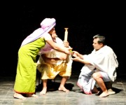 'Khomlen Manglanda' a play at Padamkumargi Shahityagi Kumhei #1 :: Gallery