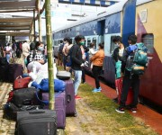 A special train ferrying stranded residents reached Jiribam Railway Station on May 28 :: Gallery