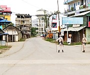 Imphal West District Police enforcing curfew in  Imphal City on 18th July 2021  #2 :: Gallery